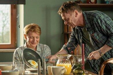 Kommissarin Paula Ringelhahn (Dagmar Manzel) hat sich in Rolf Glawogger (Sylvester Groth) verliebt.