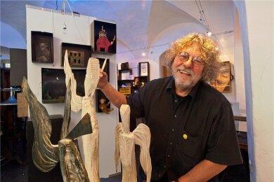 Jörg Beier im Atelier. Der Künstler ist am Wochenende gestorben.