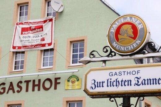 """Der Gasthof """"Zur Lichten Tanne"""" steht immer noch zum Verkauf, nachdem er im vorigen November aus Altersgründen geschlossen wurde."""