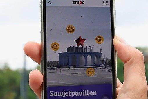 Die App soll Gebäude wie den Sowjetpavillon zeigen, die es längst nicht mehr gibt.