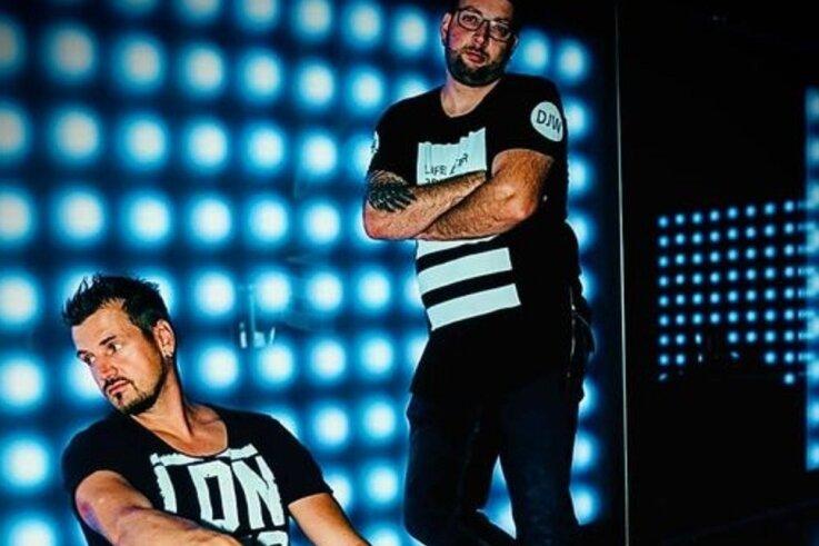 Rico Einenkel (vorn) und Sebastian Seidel sind bei Universal unter Vertrag. Im kommenden Jahr erscheint ihr drittes Album. Sie hoffen, dass es dann wieder möglich sein wird, die Nächte in Clubs durchzutanzen.