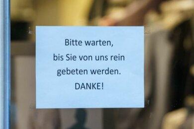 """Im Landkreis Mittelsachsen ist das Einkaufen mit Termin bei Einzelhändlern, auch """"Click & Meet"""" genannt,ab Donnerstag wieder möglich."""
