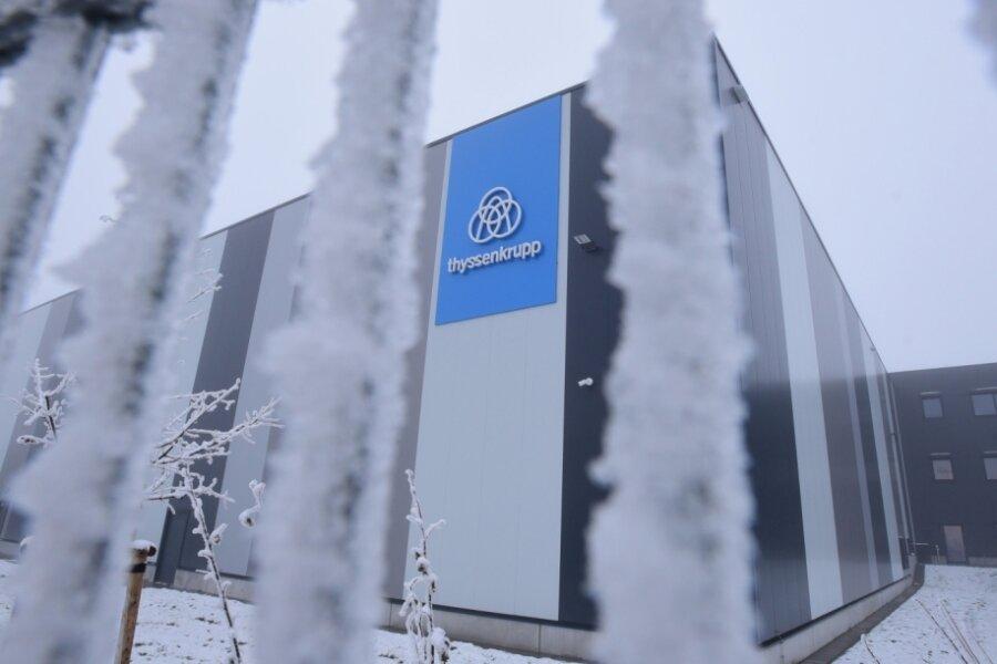 Thyssenkrupp hat im Gewerbegebiet Röhrsdorf neu gebaut und konzentriert sich künftig auf den Standort Chemnitz.
