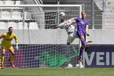 Florian Krüger (rechts) war vergangenes Jahr im Heimspiel gegen den SV Sandhausen der Mann der Partie. Er holte beim 3:1-Sieg den Elfmeter vor dem 1:0 heraus und traf zum 2:0.