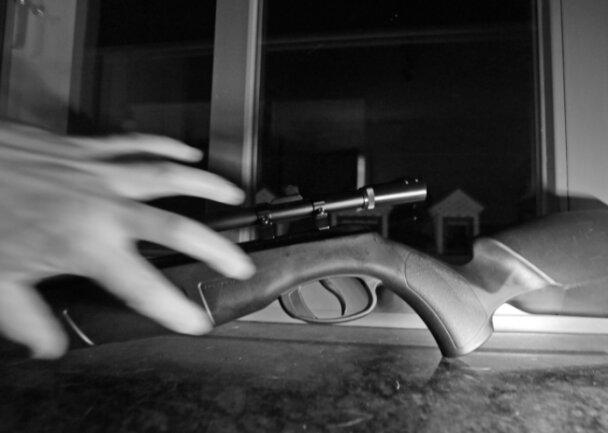 Immer wieder haben es Einbrecher auf Waffen abgesehen, wie auf diesem gestellten Foto. Nirgends in Sachsen wurden im vorigen Jahr so viele gestohlen wie im hiesigen Landkreis.