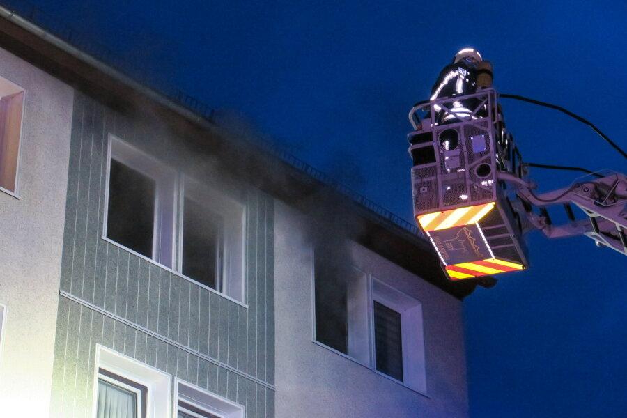 Seniorin bei Brand in Aue verletzt