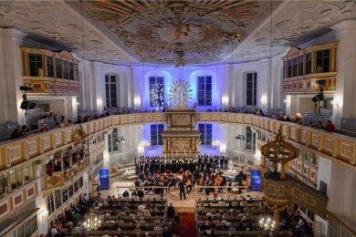 Auch die Kirchen des Erzgebirges werden in das Musikfest Erzgebirge einbezogen, hier ist eine Aufnahme aus dem Jahr 2018 in der St.-Georgen-Kirche in Schwarzenberg zu sehen.
