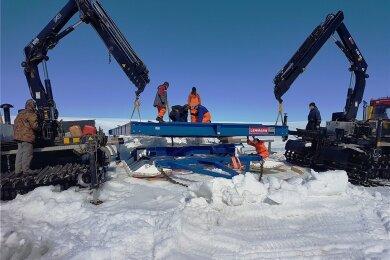 Diese und ähnliche Schlittenkonstruktionen wie hier für eine russische Polarstation fertigt Lehmann UMT. Am Dienstag gehen wieder Teile von Weischlitz aus auf die Reise.