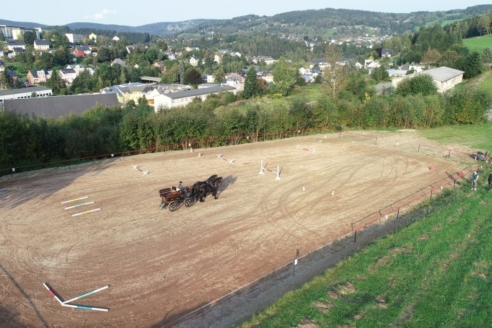 Der neue Parcours über den Dächern Klingenthals.