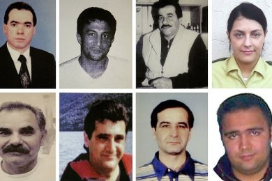 Enver Simsek, Abdurrahim Özüdogru, Süleyman Tasköprü, Habil Kilic, Michele Kiesewetter, Mehmet Turgut, Ismail Yasar, Theodoros Boulgarides, MehmetKubasik und Halit Yozgat (von oben links nach unten rechts) wurden vom NSU ermordet.