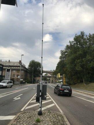 Die rätselhafte Anlage an der Kreuzung Blankenauer Straße/Christian-Wehner-Straße.