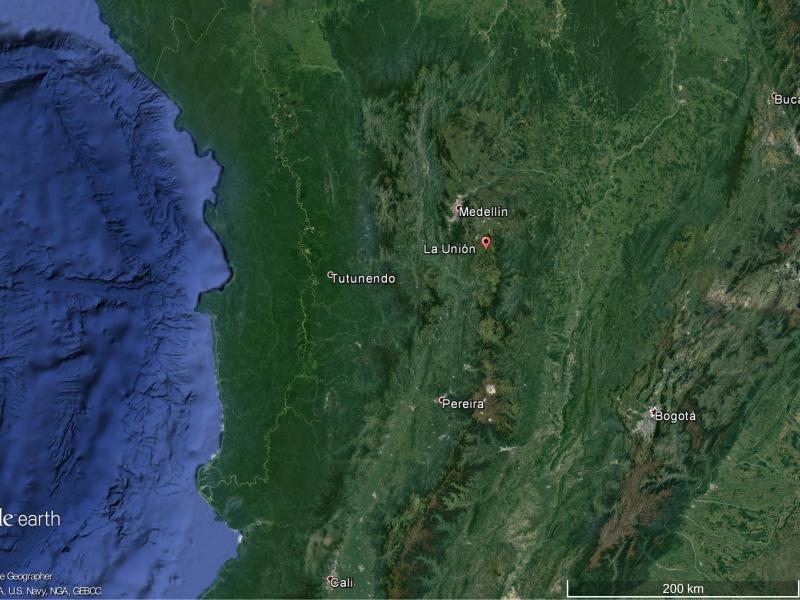 Die Maschine verschwand in der Nähe der Ortschaft La Unión vom Radar.