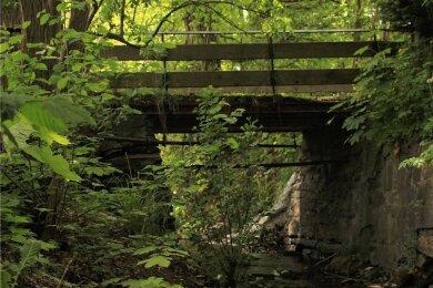 Die Fußgängerbrücke am mittleren Teich in Limbach muss erneuert werden. Sie ist zwar noch nicht gesperrt, aber stark in Mitleidenschaft gezogen.