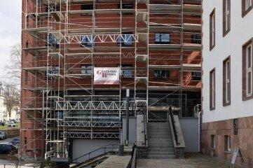 Erneut eine Baustelle: das Landratsamt in Annaberg.