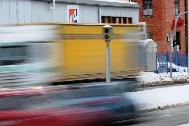 Zu schnell unterwegs: In Lugau wurden 59 Fahrer ertappt.
