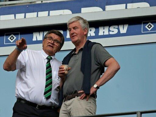 Bernhard Peters (r.) steht beim HSV vor dem Aus