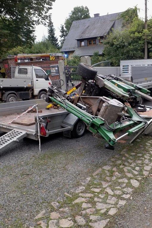 Auf dem Lutherfriedhof in Haßlau kam es zu einem schweren Unfall.