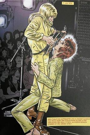 Pop mit Biss: David Bowie mit Mick Ronson.