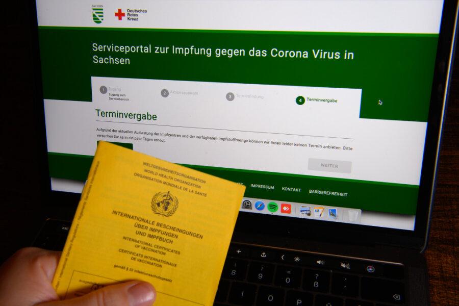 Fast 36.000 Impftermine für Sachsen binnen zwei Stunden weg