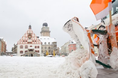 Mal wieder ein richtiger Winter in Plauen - und kaum einer bekommt es mit? Die DWD-Wetterstation in der Südvorstadt liefert jedenfalls weiterhin keine Werte, aus denen der MDR-Videotext gespeist wird.