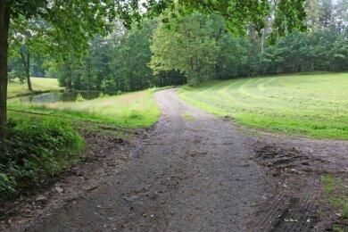 Der Promilleweg, der auf Giegengrüner Flur schon asphaltiert ist, soll nun auch Richtung Leutersbach als Radweg ausgebaut werden.
