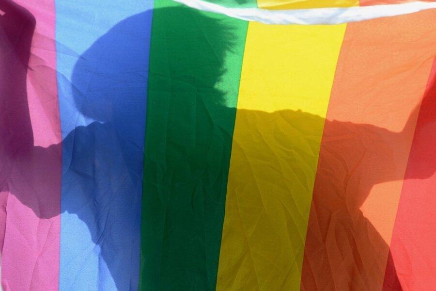 Die Regenbogenfahne ist ein internationales Symbol, das die Lesben- und Schwulenbewegung benutzt.