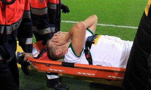 Matthias Ginter verletzte sich gegen Hannover im Gesicht