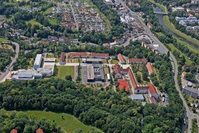 Auf dem Scheffelberg-Campus werden unter anderem Wirtschaftswissenschaften und Gebärdensprach-Dolmetschen gelehrt.