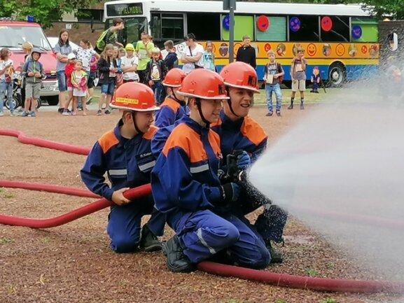 Auch eine Feuerwehrtruppe gab es in Mini-Zwickau.