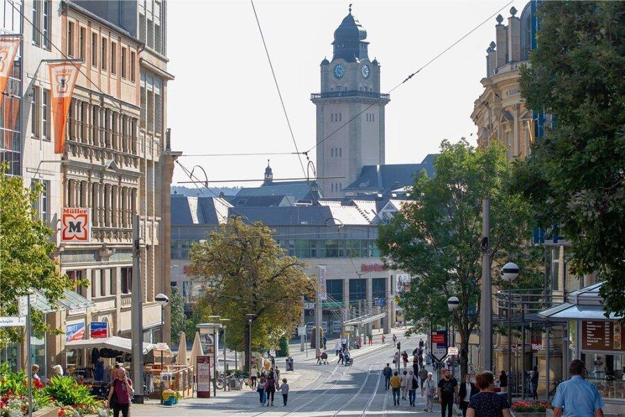 Plauen im sächsischen Vogtland: Bahnhofstraße, Stadtgalerie und Altstadt sind auf Westniveau.