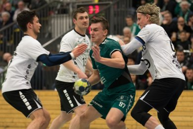 HSG-Spieler Martin Rom beim Spiel gegen Concordia Delitzsch im Februar 2020.