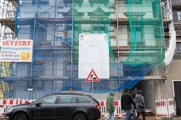 """Die Baustelle """"An der Spüle 1"""" im März 2020."""