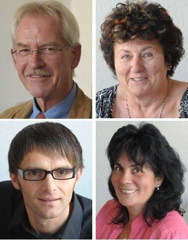 Unsere Experten bei Telefonforum und Chat:  Karl Friedrich Schmerer, Anita Just,  Ralf Müller und Anja Heier (von links oben nach rechts unten).