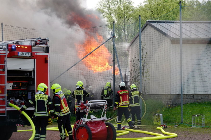Laubenbrand in Chemnitz