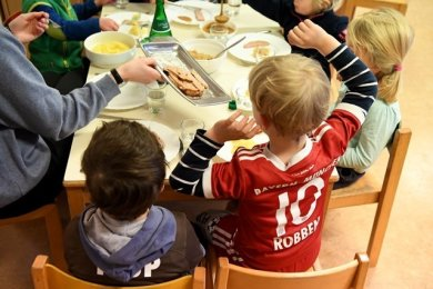 Die Knirpse im Kindergarten Villa Kunterbunt in Triebel erhalten ihr Mittagessen vorerst nicht aus der Schulküche in Eichigt.