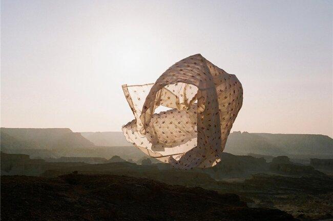 """Eine Arbeit von Hoda Afshar aus der Serie """"Speak the Wind"""" (2015 - 2021)."""