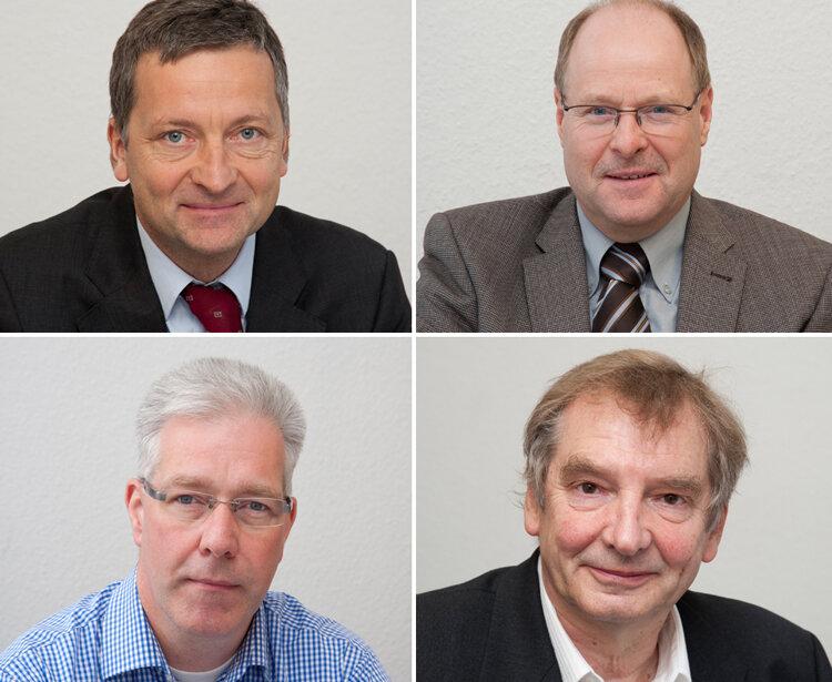 Die Experten: oben: Dr. Holger H. Sigusch und Dr. Johannes Schweizer unten: Dr. Thomas Ketteler und Prof. Dr. Hans Volkmann