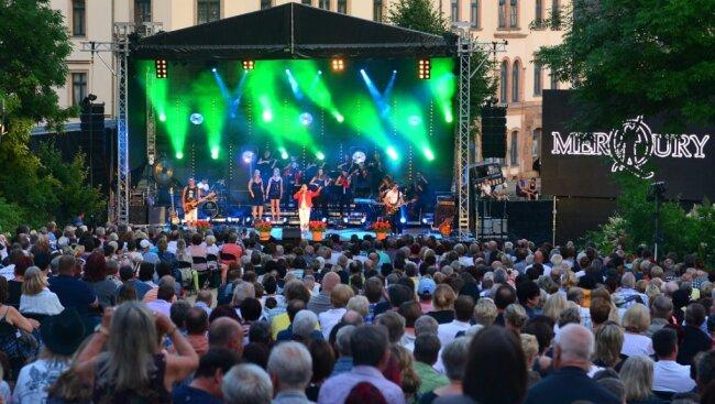 Mehr als 1000 Besucher waren im Vorjahr zum Klanglichtzauber auf den Technikumplatz in Mittweida gekommen.