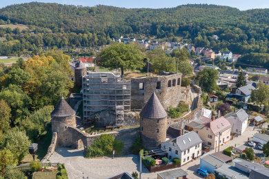 Die Elsterberger Burgruine ist rund 800 Jahre alt.
