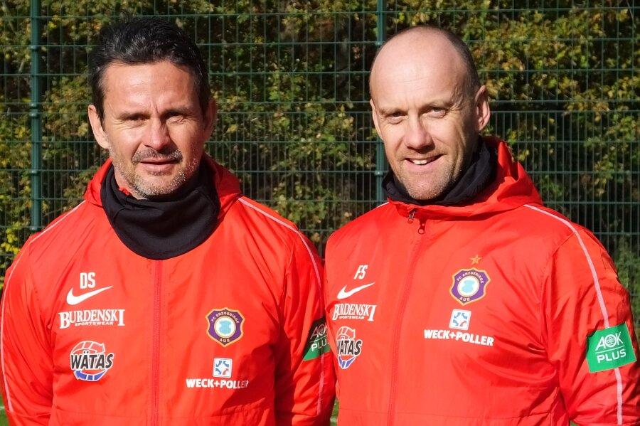 Chefcoach Dirk Schuster und Co-Trainer Frank Steinmetz.