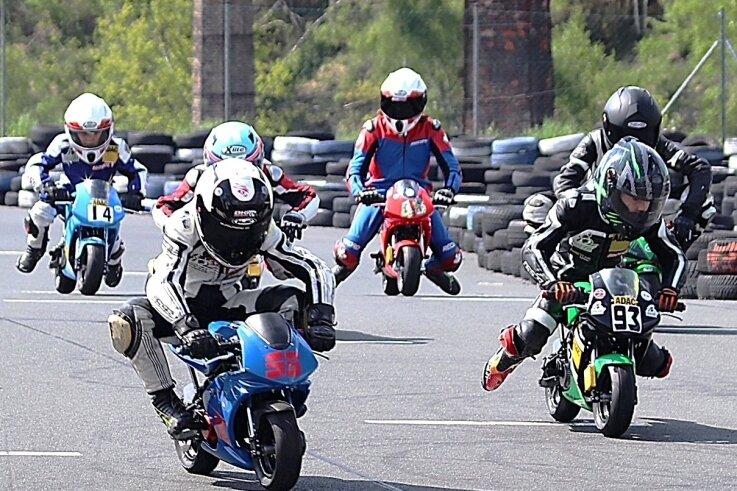 Start auf dem Saxonia-Ring: Zwei Rennen der Pocketbike-Sachsenmeisterschaft, einer Breitensportrennserie, sollen in diesem Jahr auf dem Kurs am Stadtrand von Freiberg stattfinden.