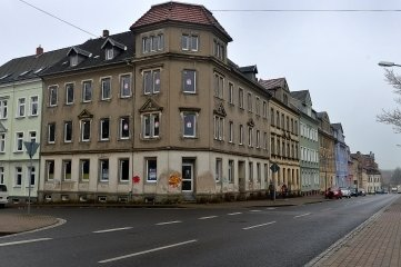 Eckhaus Ernst-Thälmann-Straße 9 in Hainichen.