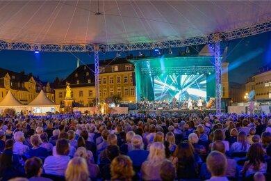 Die dritte Auflage des Märchenfilmfestivals ist verschoben. Märchenhaft soll es in Annaberg-Buchholz aber dennoch in diesem Jahr zugehen. Auf große Galakonzerte wie auf diesem Bild 2019 muss allerdings verzichtet werden.