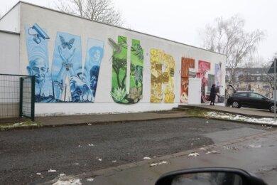 """Der Jugendclub """"Würfel"""" in Glauchau hat geschlossen. Ob und wie das Gebäude künftig genutzt wird, ist noch unklar."""