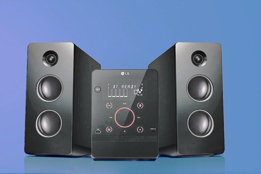Diese Minianlage von LG steht im Wohnzimmer der Familie Büchner - und wird unvermittelt extrem laut.