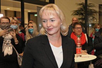 Kathrin Köhler, hier nach der verlorenen OB-Wahl, wird noch in diesem Jahr aus dem Rathaus ausscheiden.