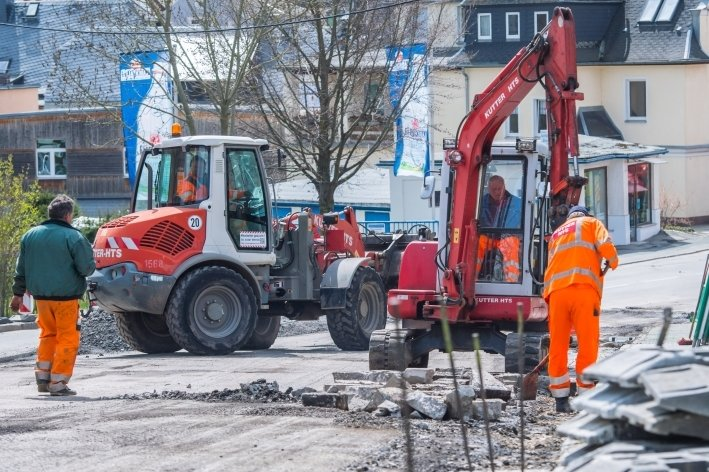 Bauarbeiten an Bundesstraße
