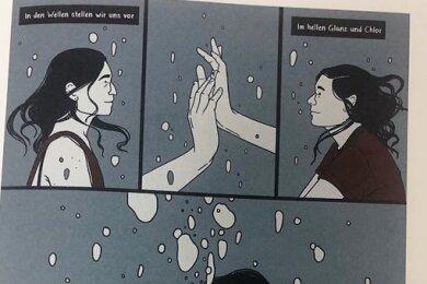 """Julia Bernhards Comic-Happy-End zum Song """"Warte auf mich auf dem Grund des Swimmingpools""""."""