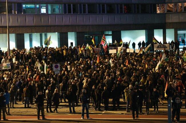 Schätzungsweise 1000 Teilnehmer besuchten die Demo von Pro Chemnitz.