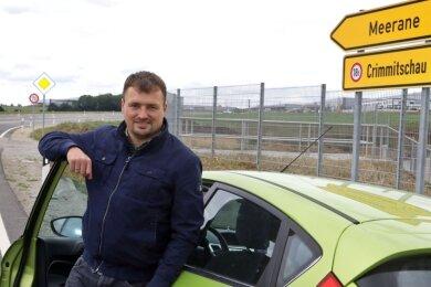 Reporter Holger Frenzel hat die neue Trasse zwischen Crimmitschau und Meerane getestet. Der Zeitvorteil: 30 Sekunden.